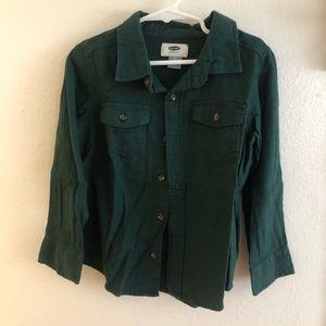 Boy green shirt